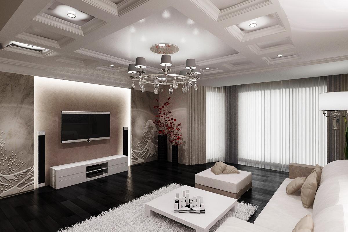 Дизайн интерьера зала или гостиной
