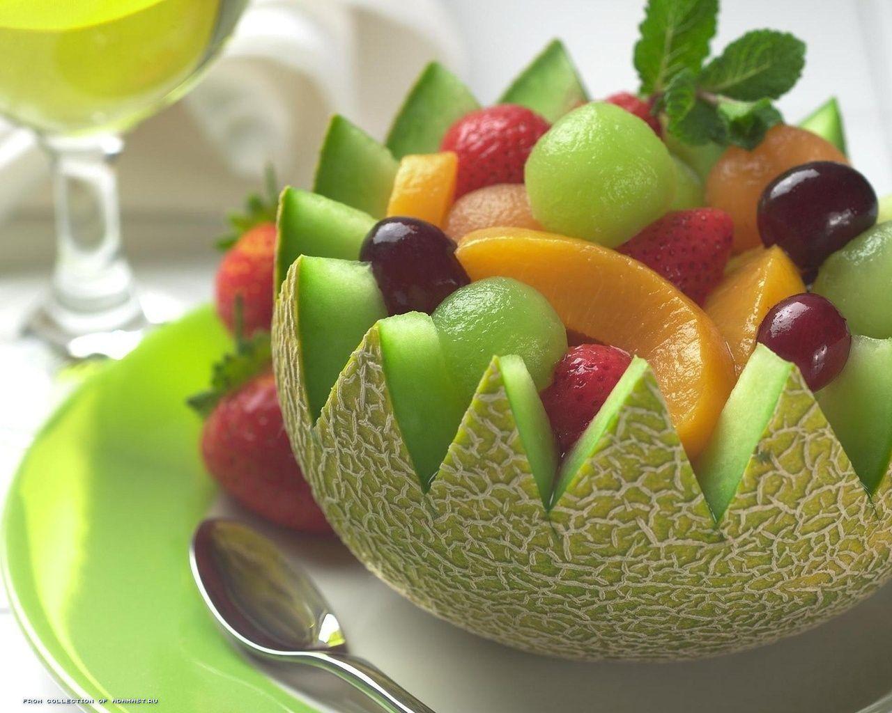Как сделать из фруктов салаты фигуры