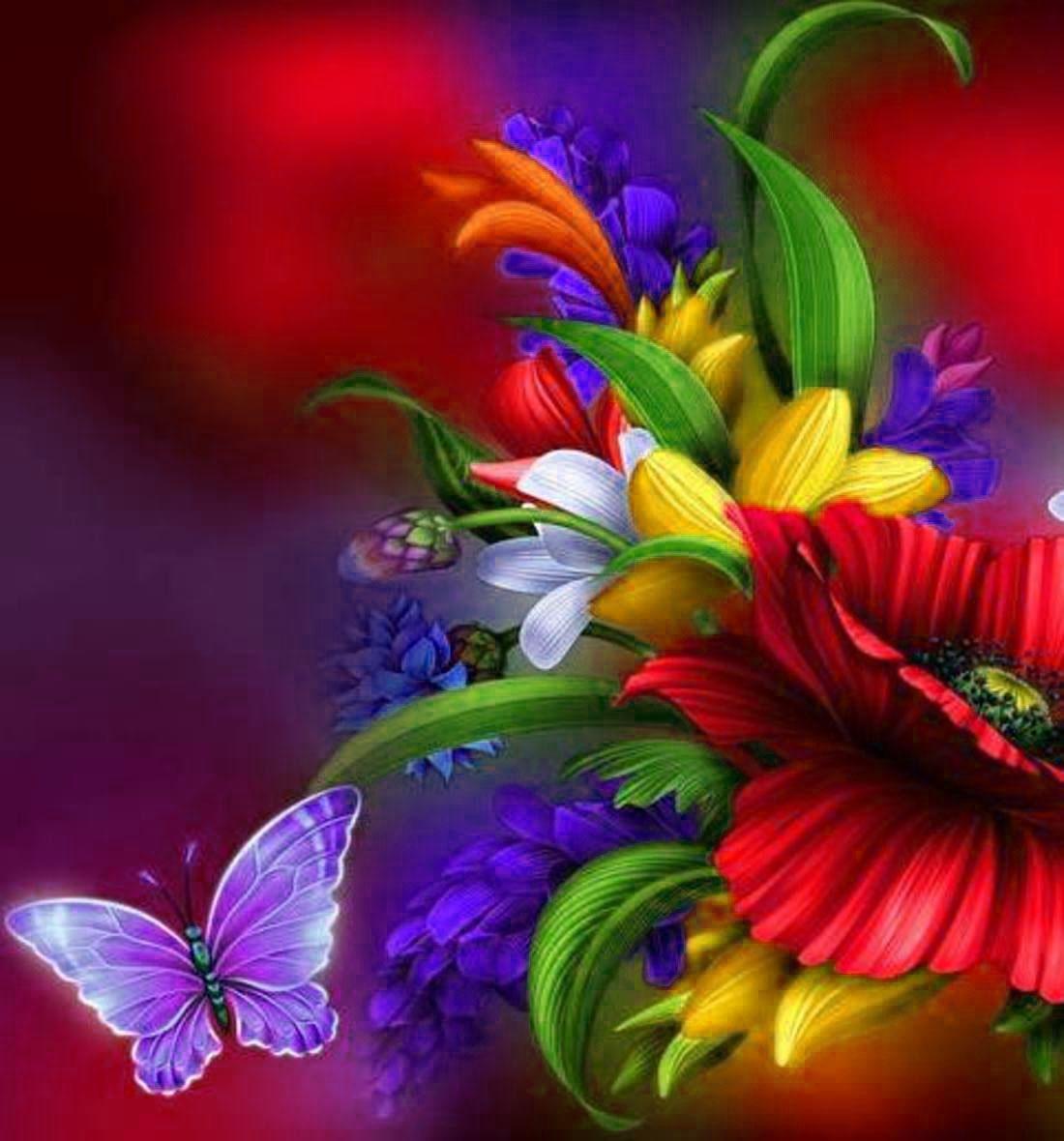 Фото с анимацией цветы