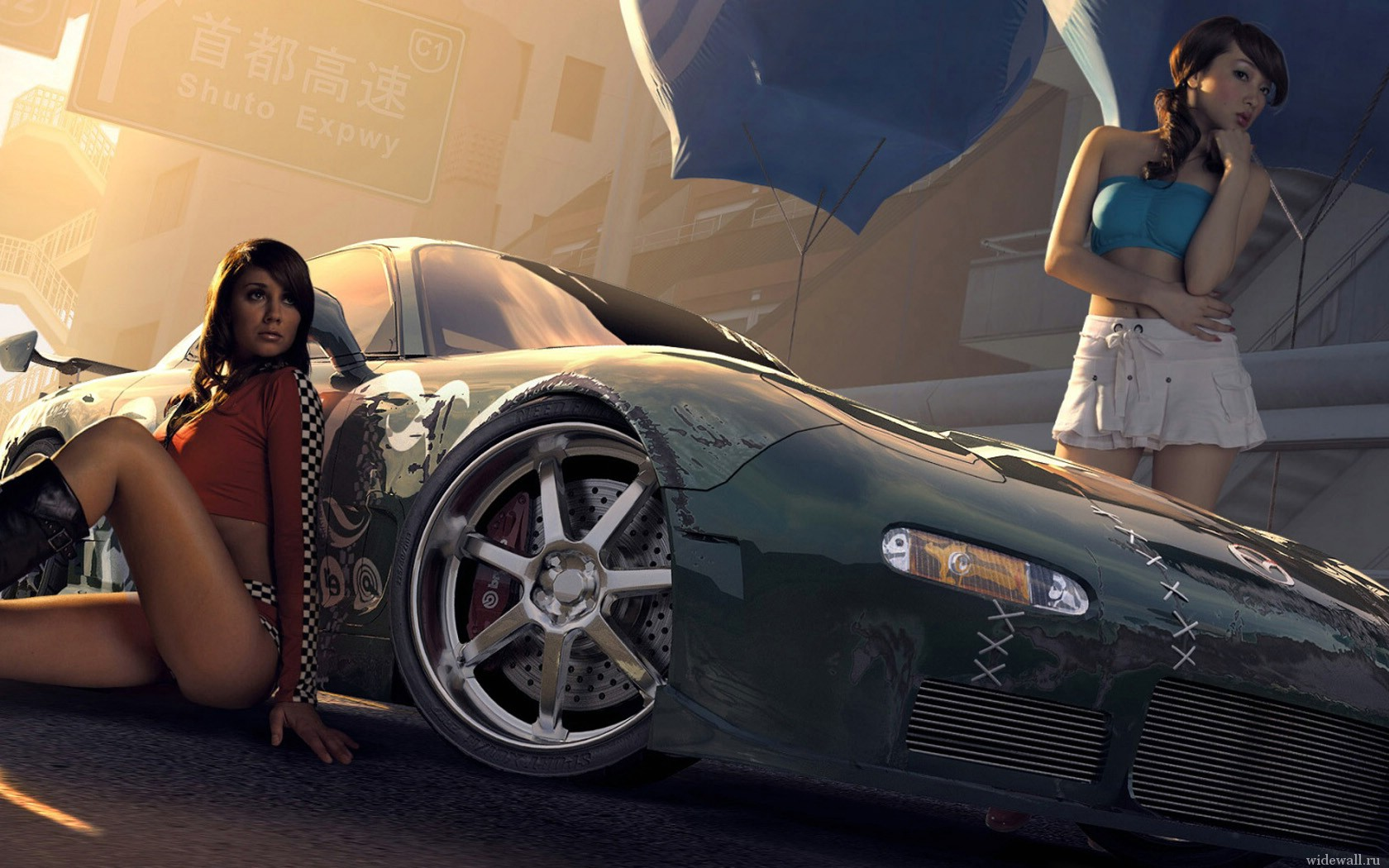 фото с машинами с девушками
