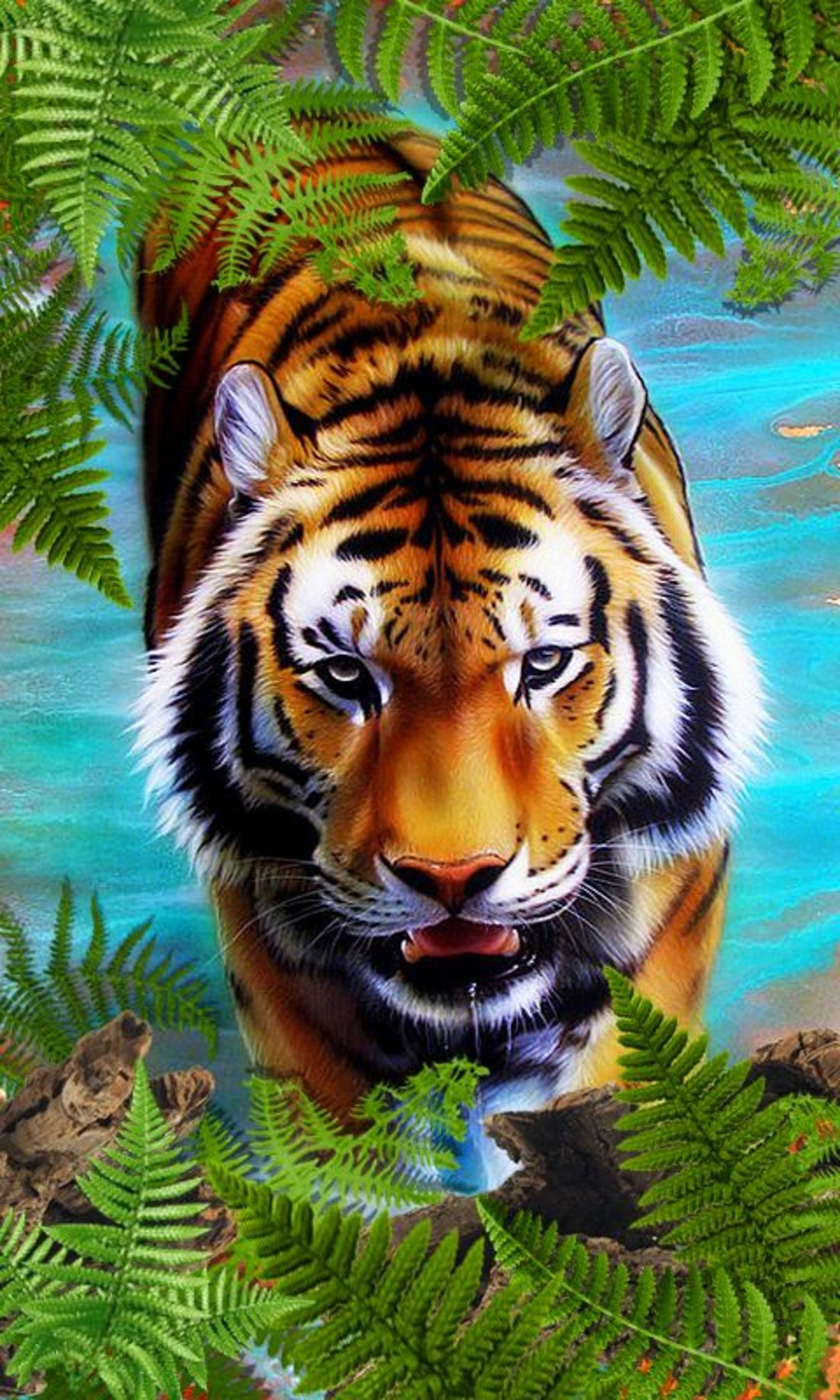 Блестящая картинка тигра 3