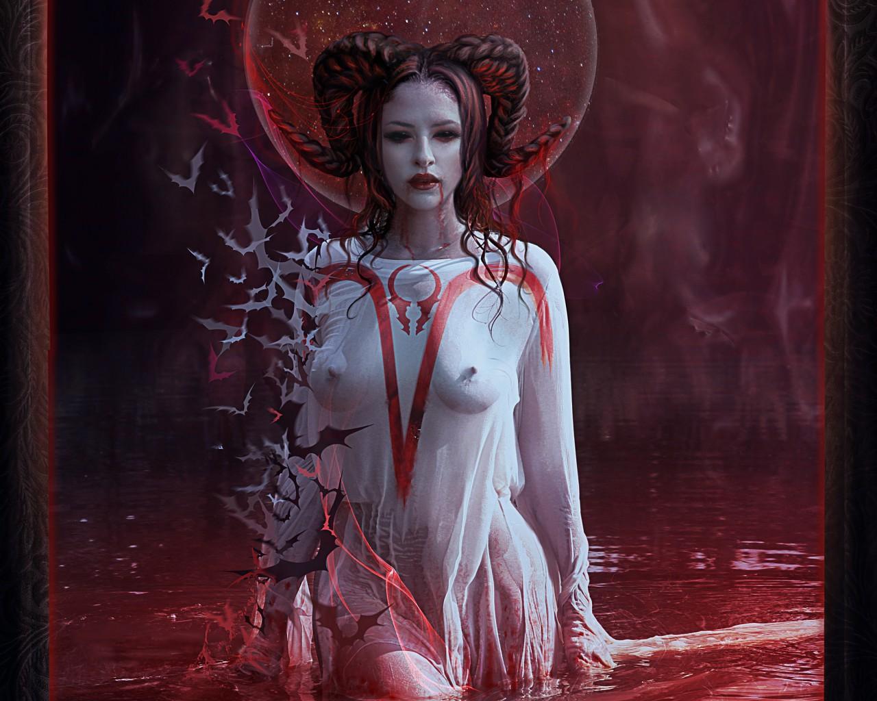 Lady von blood vampiress costume