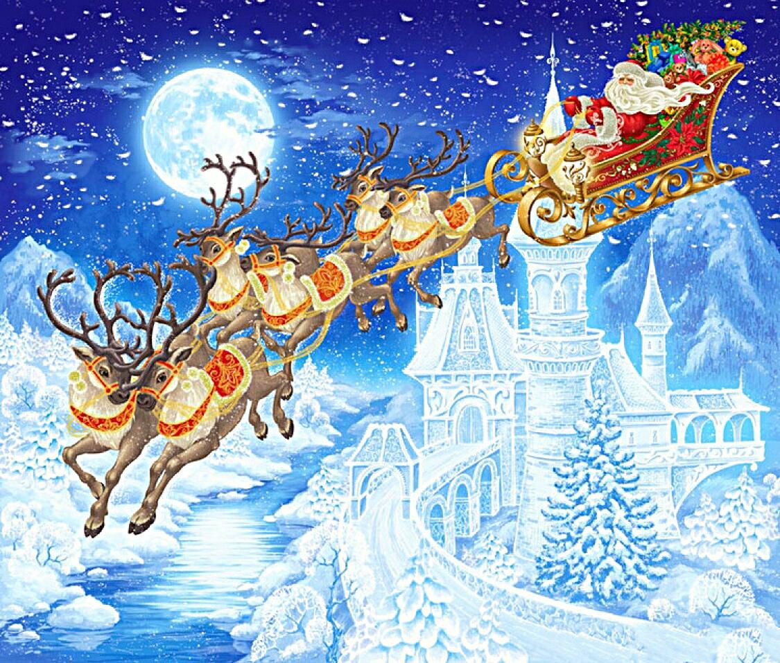 Иллюстрации к сказкам на новый год