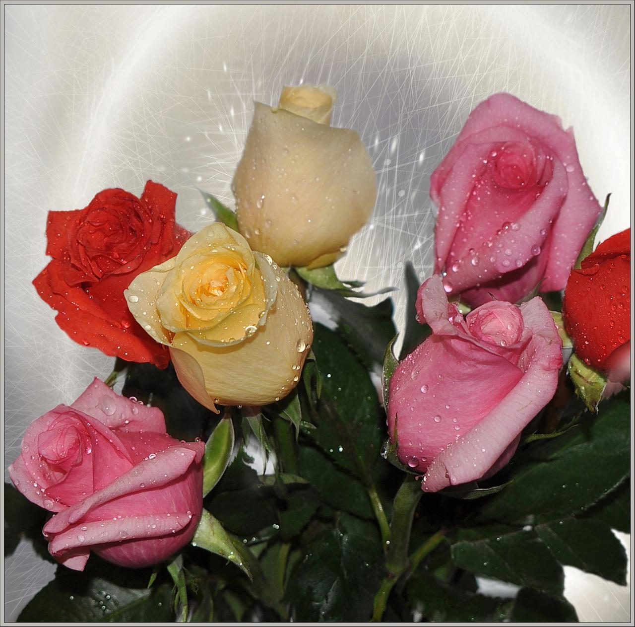 Поздравление друзьям фото цветов