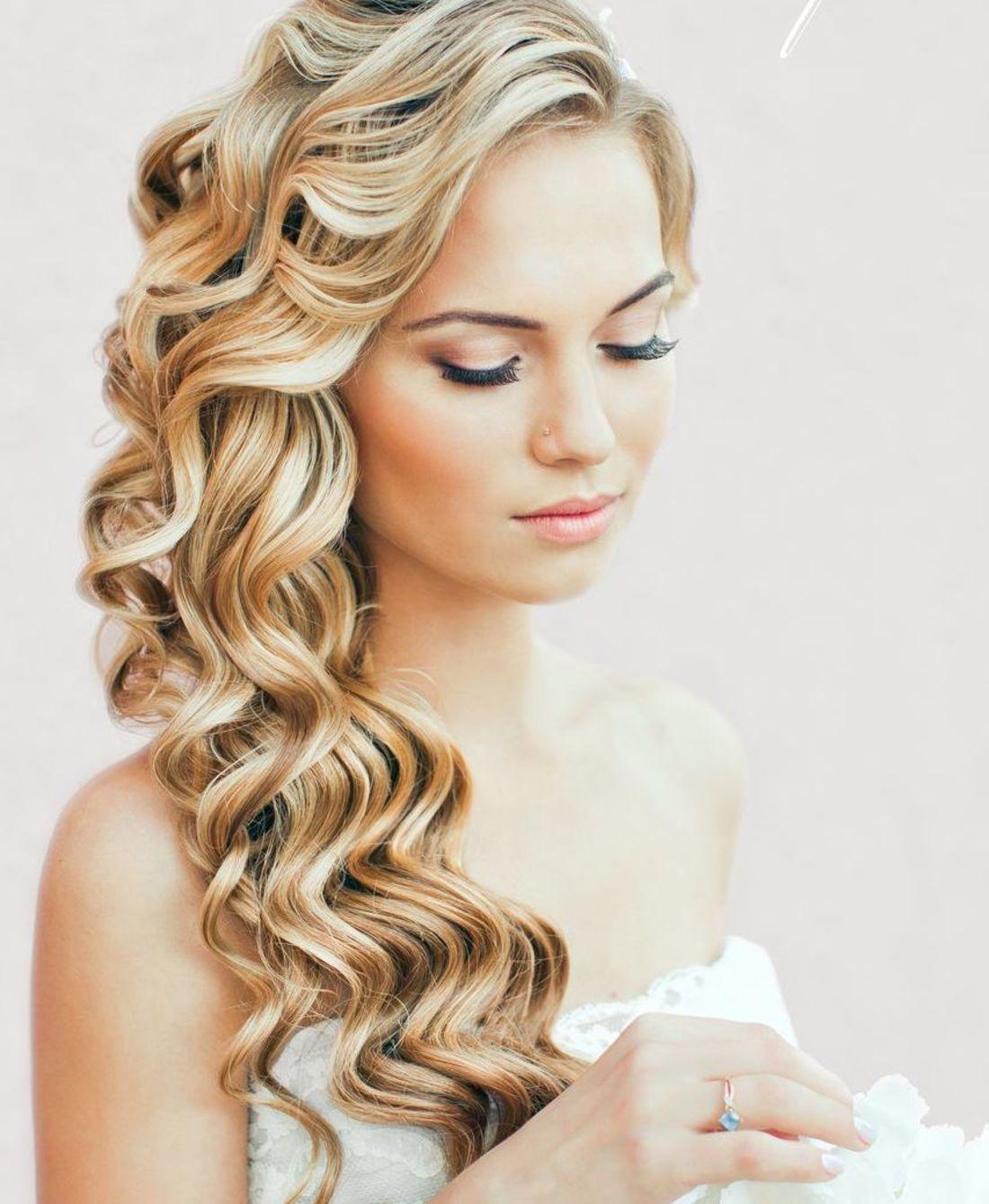 Прически на длинные волосы завитые