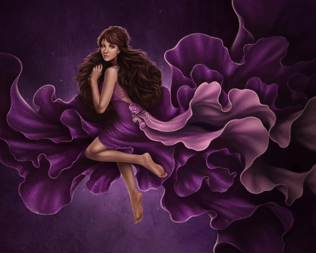 Девушка как цветок