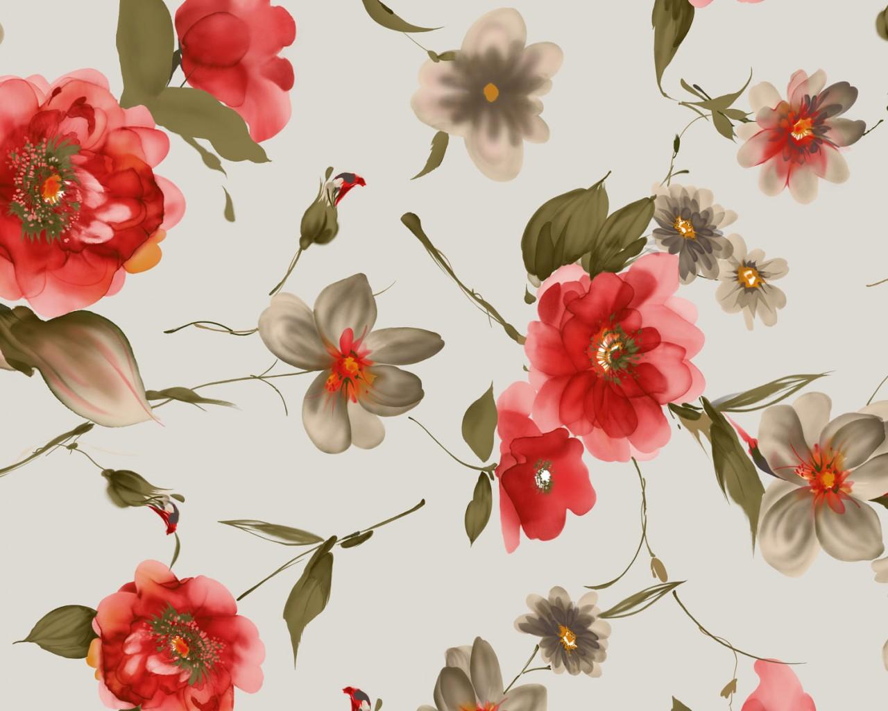 нарисованные розы обои для рабочего стола № 480933 без смс