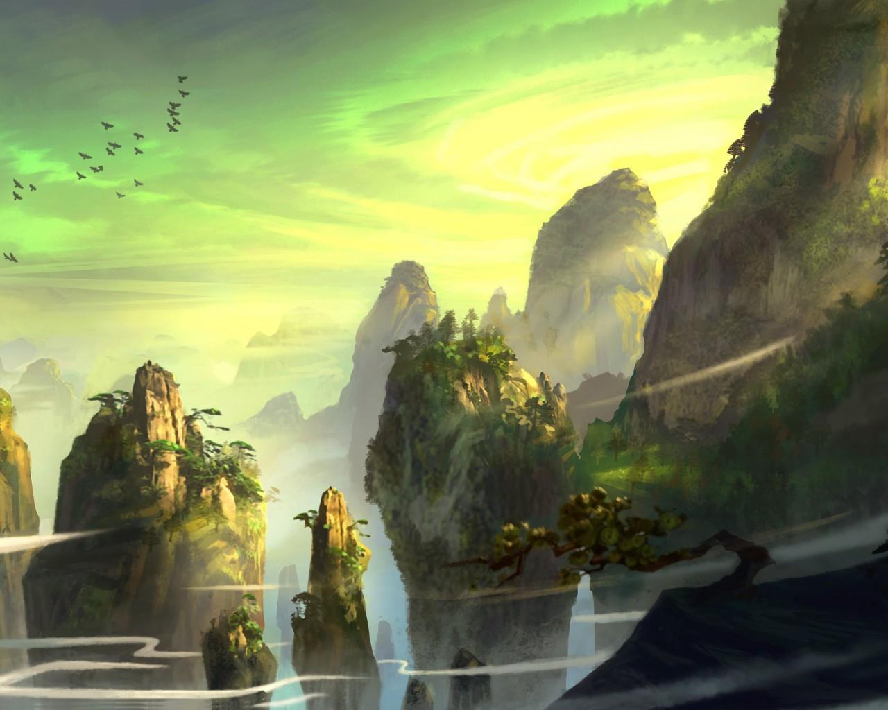 обои пейзажи фантастика на рабочий стол № 54944 загрузить
