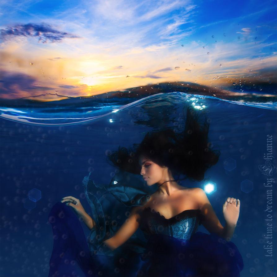 Под водой девушки рисунки