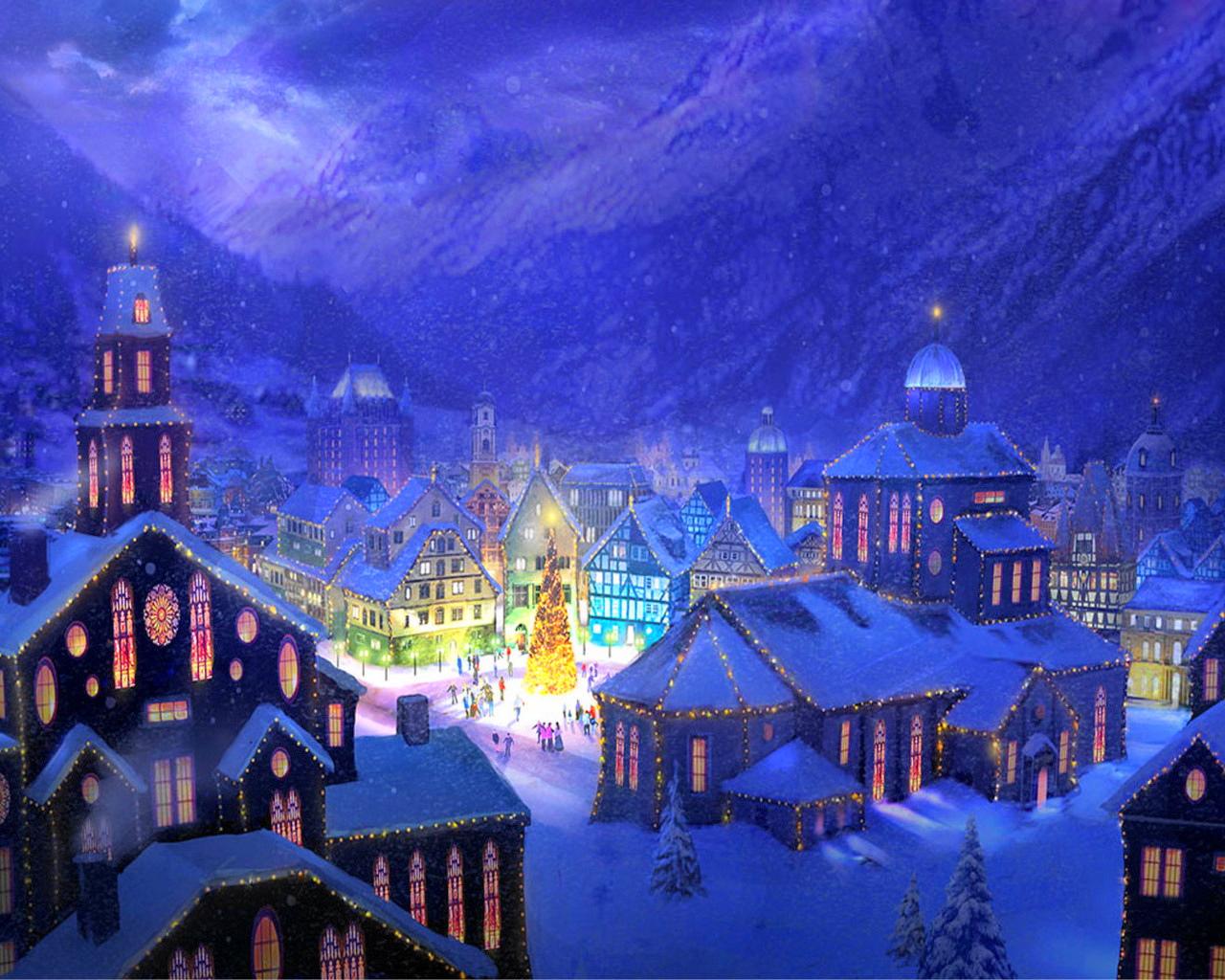 фото зимний город
