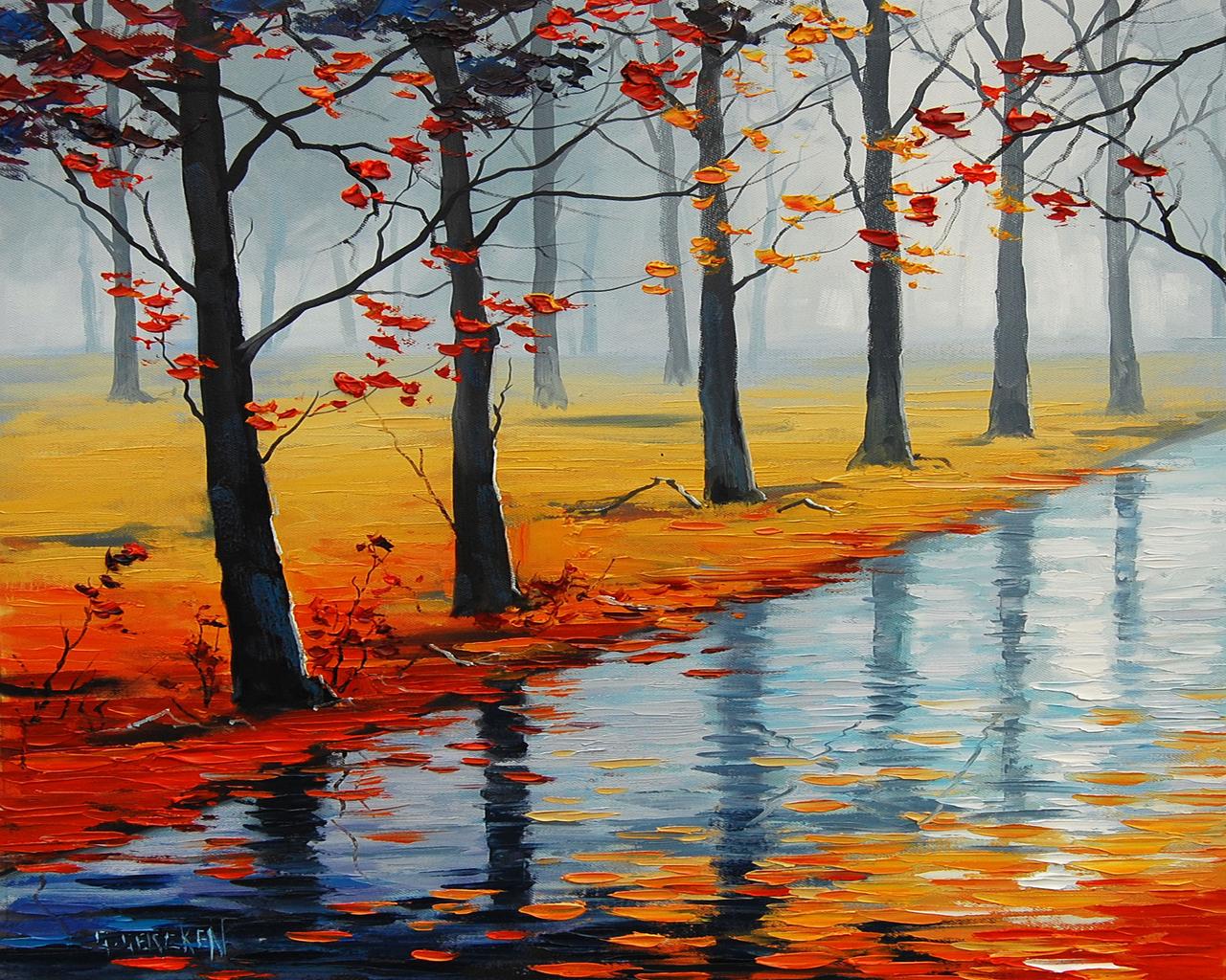 рисунки осень фото