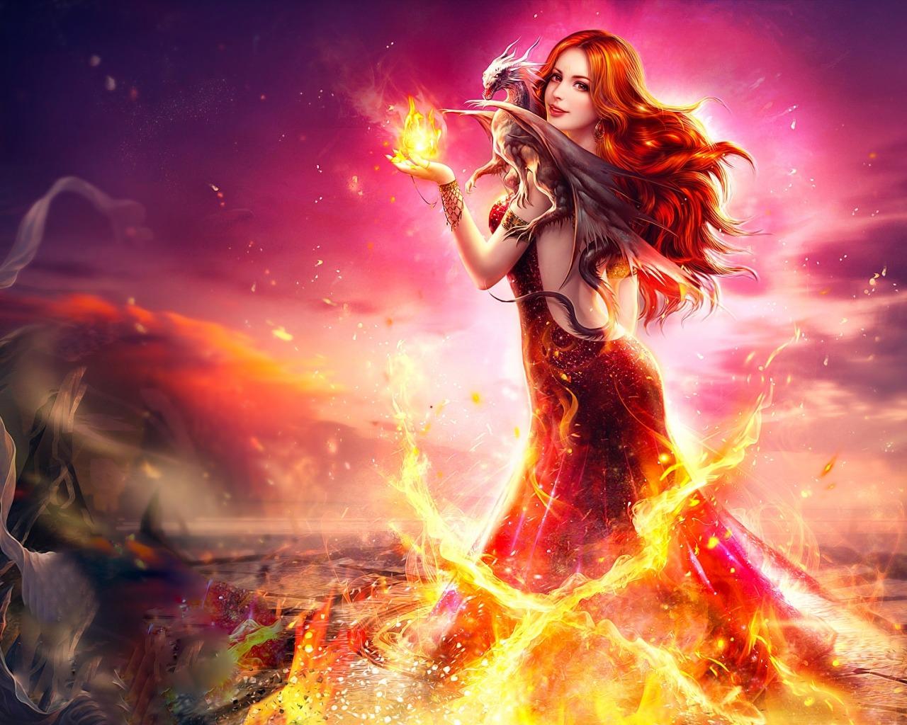 Картинки по запросу фото девушка в огне
