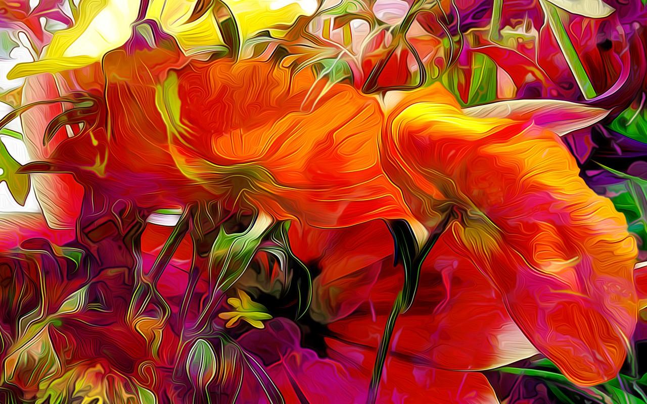 Абстрактные фото с цветами