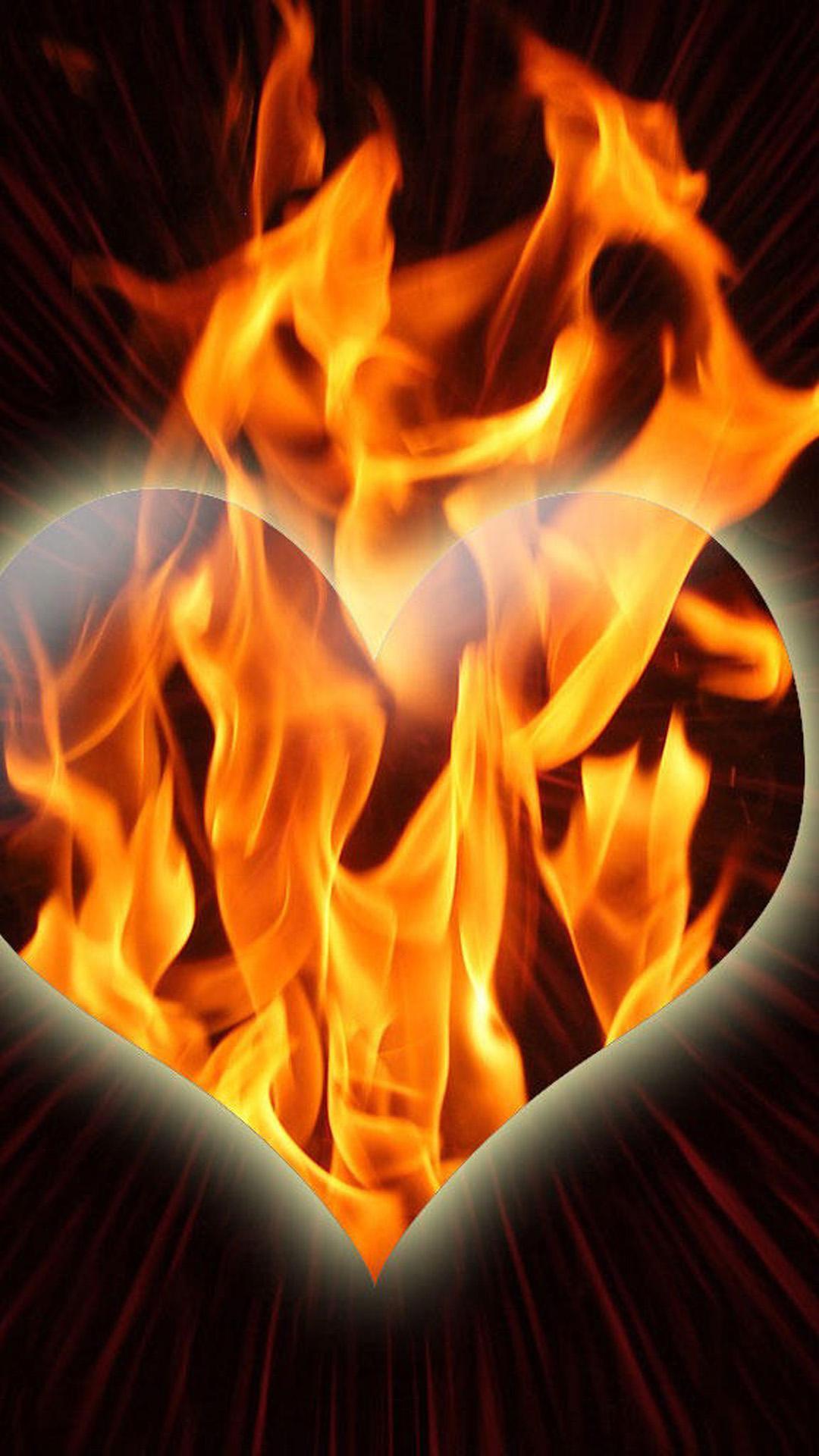 Сердце из огня своими руками 832