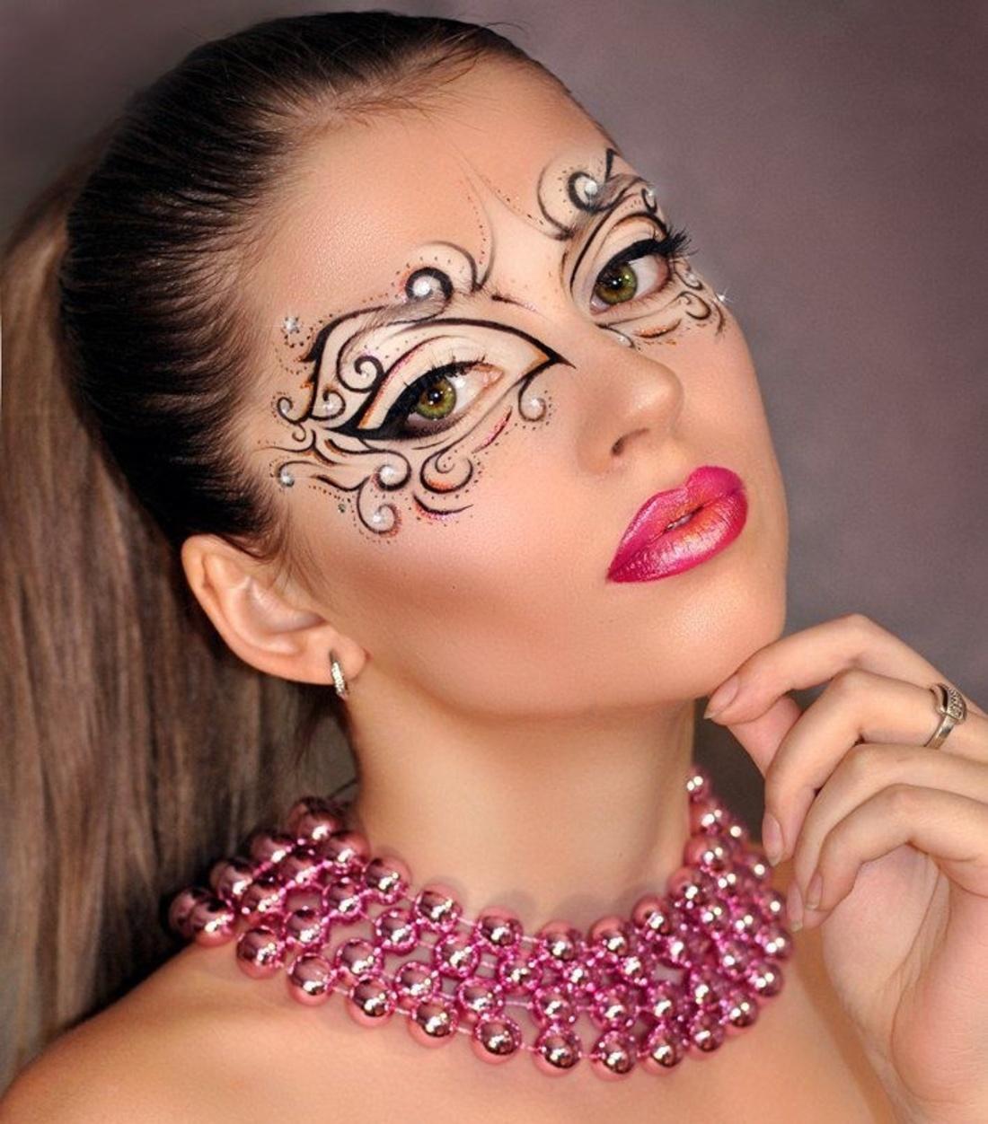 Бодиарт на лице макияж