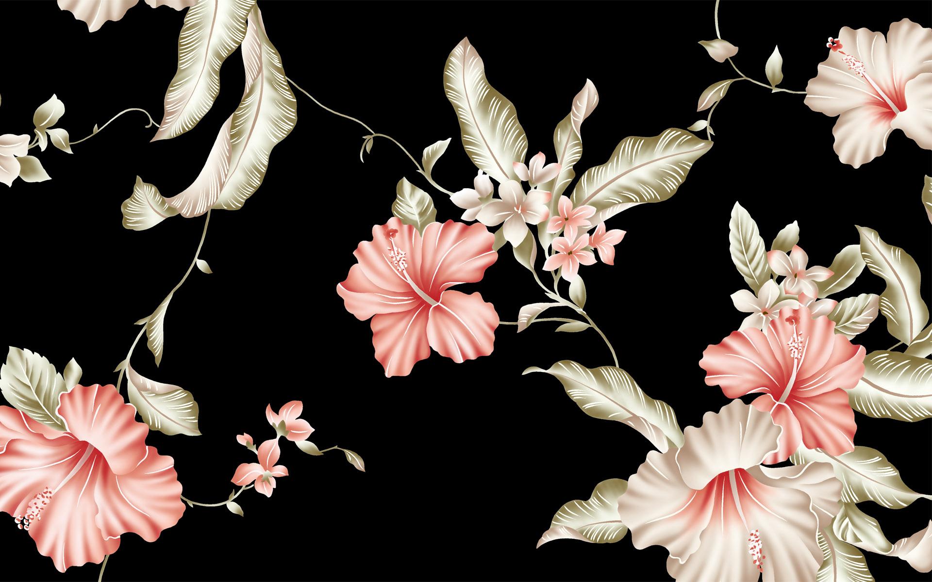 Обои для рабочего стола цветы винтаж